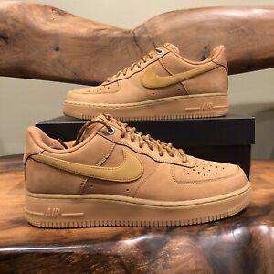 NEW Nike Air Force 1 Low '07 WB 2019 Flax Size 10.5 Wheat Gum CJ9179-200 Suede