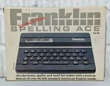 Vintage Franklin Spelling Ace Sa-98 Electronic Speller [Second Edition] Tested