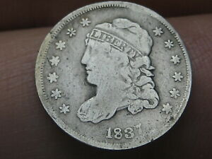 1837 Capped Bust Half Dime- Small 5C, Fine Details