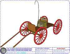 Classic American Buckboard Wagon Spiral Bond Booklet with Model PlanSet Drawings