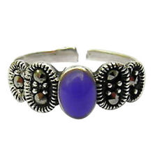 Toe Ring ! Brand New ! Sterling Silver (925) Adjustable Purple Stone