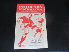 More details for  1952-53 div 3 exeter city v newport county