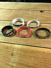 Spartan Race New 5 Piece Rubber Bracelet Collection - Mud Run - Ocr Fitness Aroo