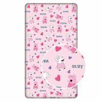 Peppa Pig Cœurs Drap Simple Coton Literie Filles Suzy Mouton