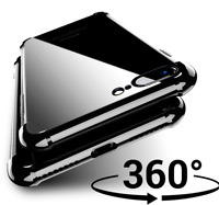 For Apple iPhone 8 - ShockProof 360 Hybrid Silicone / Tempered Glass Case Cover