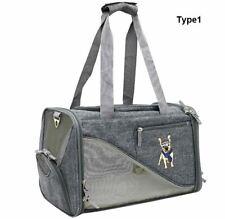 New Outdoor Sport Pet Dog Cat Carrier Shoulder Bag Handbag Net Linen +Strap M