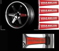 RS JDM STYLE VR RACING TE37SL Wheel Spoke or Lip Sticker Decals - 4 Pcs Set