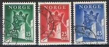 Noorwegen gestempeld 1950 used 348-350 - Oslo 900 Jaar