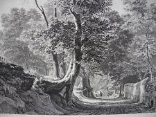 Gegend bei Aricia unweit Rom Italia Radierung Georg Busse 1841 plattensigniert