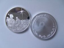 "Christmas coin 2018. 1oz .999 Silver ""Star of Bethlehem"" Free Custom Engraving"