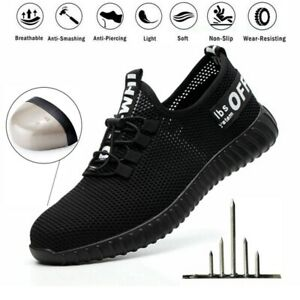 Men Women Mesh Safety Shoes Trainers Lightweight Steel Toe Cap Work Hiking Boots