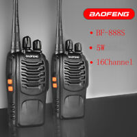 2X Baofeng BF-888S UHF Walkie Talkie 2 Two Way Radio 16CH 400-470MHZ Long Range