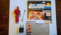 Vintage 1987 Hasbro GI Joe JINX Figure COMPLETE w/ Filecard ARAH G.I. Ninja