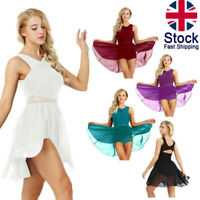 UK Women Lyrical Modern Dance Dress Ballet Latin Leotard Skirt Dancewear Costume