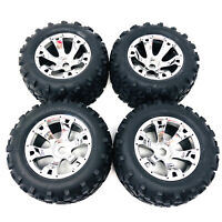 Traxxas Revo 3.3 Maxx Tyres Mounted On Chrome Geode Wheels 17mm Hex 5674 x4 New