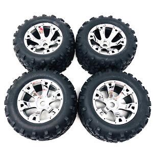 Traxxas Revo 3.3 Maxx Tyres Mounted On Chrome Geode Wheels 17mm Hex 5674 x4 New
