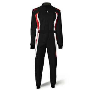 Speed Racing Overall BARCELONA RS-3 - Rennoverall CIK-FIA Schwarz/rot/weiß