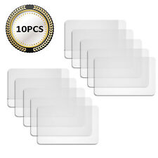 10 Pieces Table Placemats Plastic Table Mats Heat Resistant Placemats Non-Slip