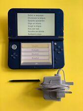 Nintendo New 3DS XL Metallic Blue *TOP SCREEN IPS* + Stylus & Charger 💎