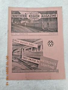 BRITISH RAILWAYS  SOUTHERN REGION MAGAZINE ** VOL.1  No.1 **  JANUARY 1948
