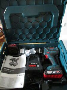 BOSCH GSB 18-2-Li Plus Combi Drill Charger & Case 2 x 2.0Ah Batteries