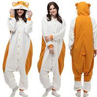 Cosplay Pajamas Cute Hamtaro Hamster Kigurumi Costume Adult Sleepwear Jumpsuit