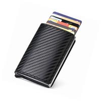 URAQT Porte Carte Crédit, RFID de Carbon Fiber, Etui de de Visite, Automatique P