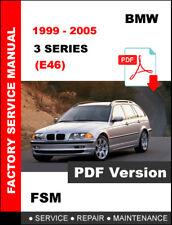 1999 2000 2001 2002 2003 2004 2005 BMW 3 SERIES E46 REPAIR FACTORY MANUAL