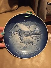 Copenhagen Porcelain Christmas At The Old Water Mill Decorative Plate Germany