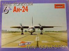 Toko 1/288 Antonov AN24 Aeroflot Prop Aircraft Model Kit 105