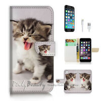 ( For iPhone 6 / 6S ) Wallet Case Cover! P2202 Pussy Cat
