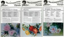 BOB ROSS How-To Painting Packets - Pink Roses,  Mums & E Shrub Roses