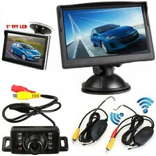 "Wireless IR LED Reversing Parking  Camera + 5"" LCD Monitor Car Rear View Kit Set"