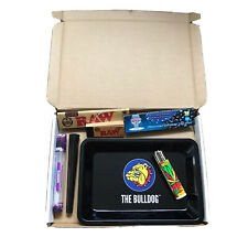 Bulldog Smoking Essentials Supply Box Small - RAW Rolling Papers Tips Grinder Ro