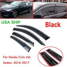 For 2016 2017 Honda Civic Sedan 4Dr Side Window Vent Visor Trim
