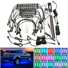 15 RGB Color Car Underglow Under Body Neon Accent Glow LED Lights Kit W Remote
