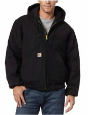 Carhartt Men's Quilted Flannel Lined Duck Active Jacket, Black, Size Medium m6dG