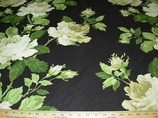 """~8 4/8 YDS~MATELASSE~""""DUTCHESS RAVEN""""~ FLORAL QUILT UPHOLSTERY FABRIC FOR LESS~"""