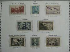 timbres français : lot 1942 YT n° 538 (o) 539 à 545  *