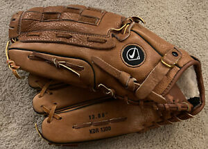 "Nike Baseball Glove KDR 1300 13"" Left Hand LHT Diamond Ready Softball Mitt USED"