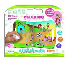 STICKABOUTS FARM THEME GLUE FREE ACTIVITY STICKERS & PLAY BOARD BY FIESTA CRAFTS