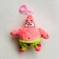 spongebob pink Patrick Star toy plush doll key chain anime keyring new