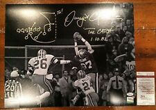 Dwight Clark Autographed SF 49ers16x20 The Catch Photo w/Diagram Witness JSA