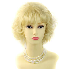 Classic Short Wig Curly Golden Blonde Summer Style Ladies Wigs WIWIGS UK
