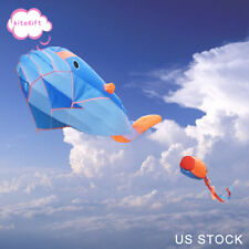 3D Huge Kite Frameless Soft Parafoil Giant Whale Flying Kite Outdoor Sports Toy