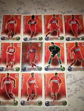 OLDER MATCH ATTAX FOOTBALL TRADING CARDS - 11 MIDDLESBROUGH FC PLAYERS