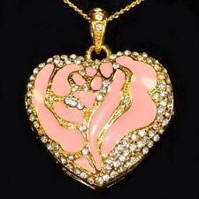 USB CHIAVETTA 4 GB CUORI ROSA Strass ciondolo gioielli catena corazón Rosa Oro