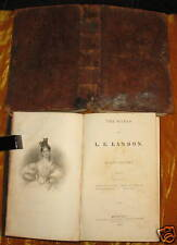 The Works of L E Landon - Two Volumes - 1840 - Leather (A-5)