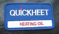 QUICK HEAT EMBROIDERED SEW ON ONLY PATCH QUICKHEET HEATING OIL