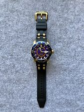 Invicta Pro Diver GMT Blue Dial and Black Polyurethane Bracelet. 6993